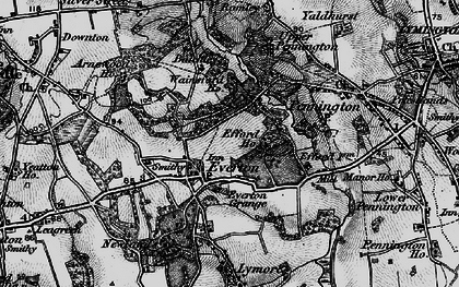 Old map of Everton in 1895