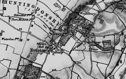 Old map of Everton in 1896