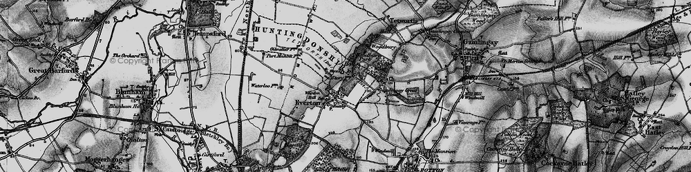 Old map of Woodbury Hall in 1896