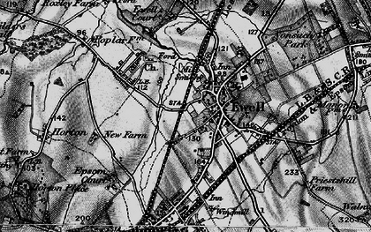 Old map of Ewell in 1896
