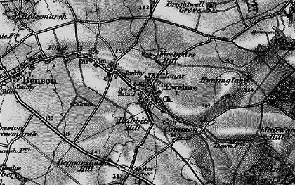 Old map of Ewelme in 1895