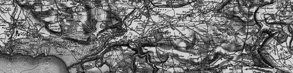 Old map of Ewenny in 1897