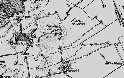 Old map of Westmorelands in 1898