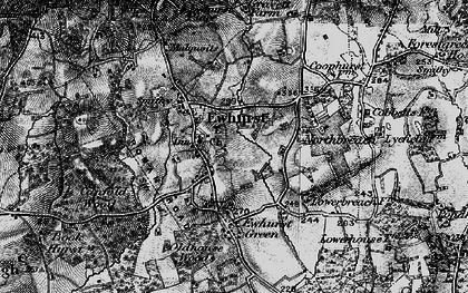 Old map of Ewhurst in 1896