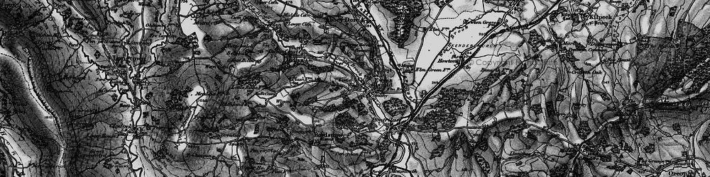 Old map of Ewyas Harold in 1896