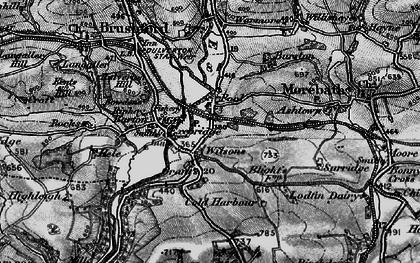 Old map of Exebridge in 1898