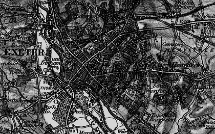 Old map of Exeter in 1898