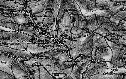 Old map of Exford in 1898