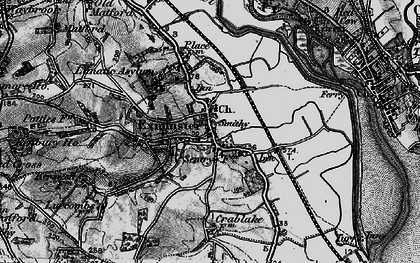 Old map of Exminster in 1898
