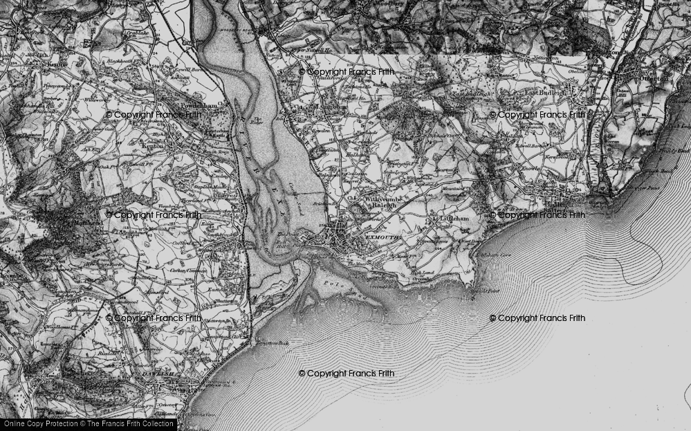 Old Map of Exmouth, 1898 in 1898