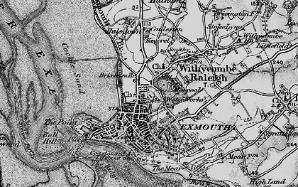 Old map of Exmouth in 1898