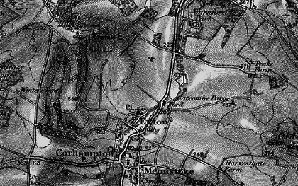Old map of Winters Down in 1895