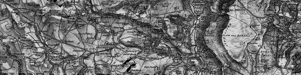 Old map of Eyam in 1896