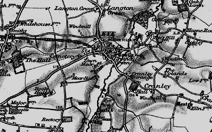 Old map of Eye in 1898