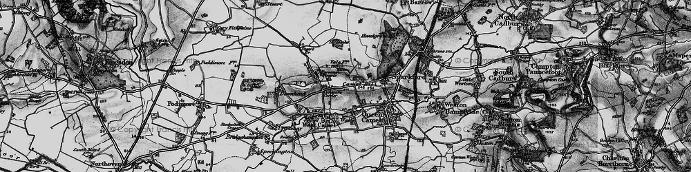 Old map of Yarcombe Wood in 1898