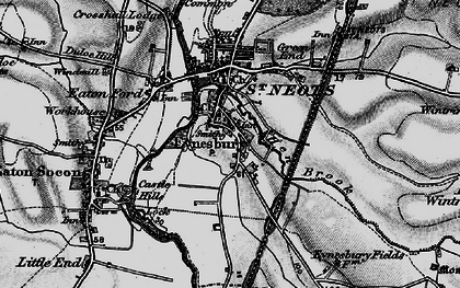 Old map of Wintringham Hall in 1898