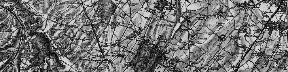 Old map of Eythorne in 1895