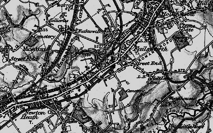 Old map of Failsworth in 1896
