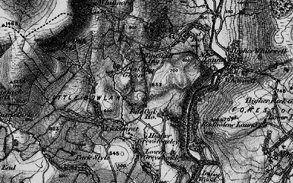 Old map of Whitmore in 1896