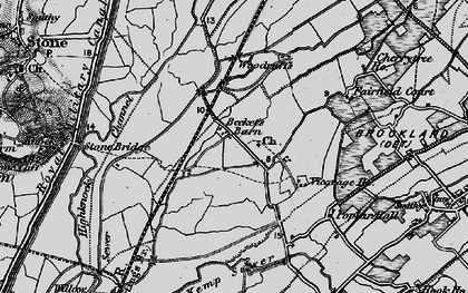 Old map of White Kemp Sewer in 1895