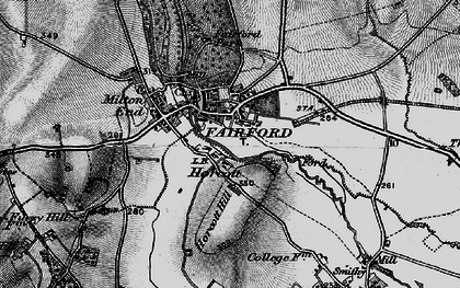 Old map of Fairford in 1896