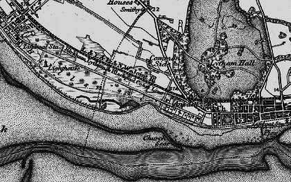 Old map of Fairhaven in 1896