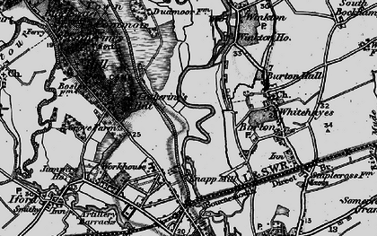 Old map of Winkton Common in 1895