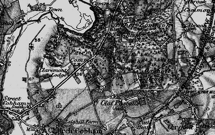 Old map of Fairmile in 1896