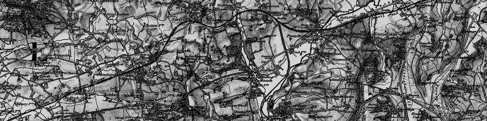 Old map of Fairmile in 1898
