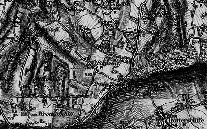 Old map of Wrotham Hill Park in 1895