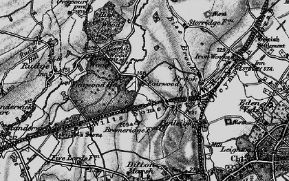 Old map of Fairwood in 1898