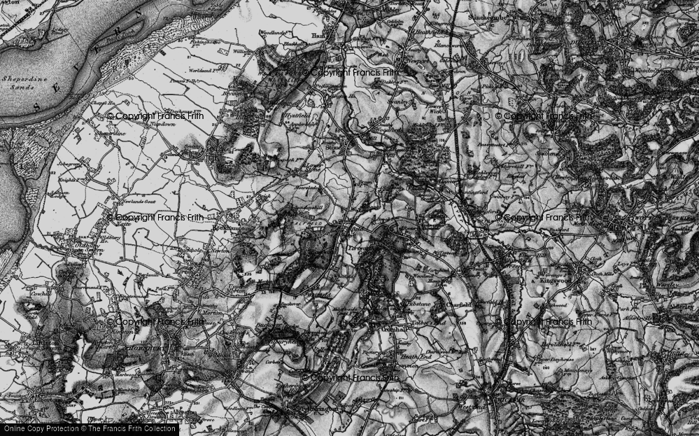Old Map of Falfield, 1897 in 1897