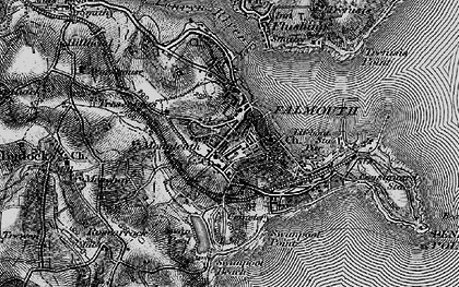 Old map of Falmouth in 1895
