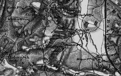 Old map of Fancott in 1896