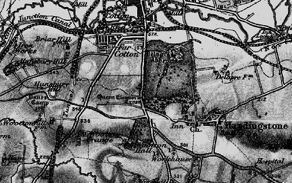Old map of Wootton Hall in 1898