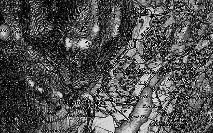 Old map of Above Beck Fells in 1897