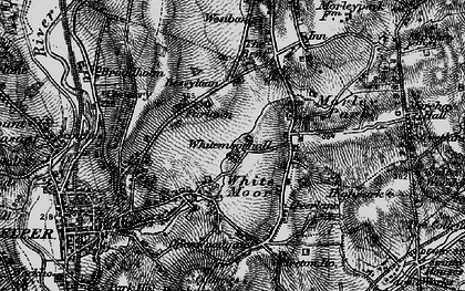 Old map of Whitemoor Hall in 1895