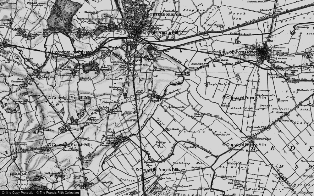 Old Map of Farcet, 1898 in 1898