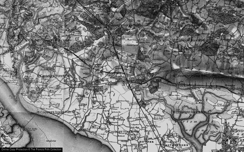 Old Map of Fareham, 1895 in 1895