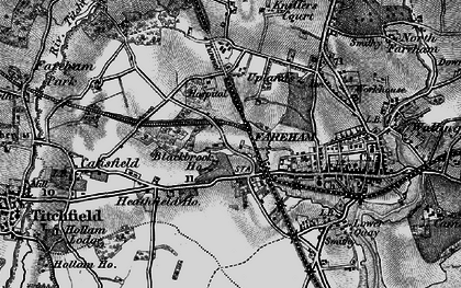 Old map of Fareham in 1895