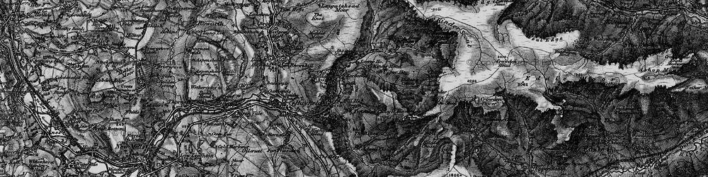 Old map of William Clough in 1896