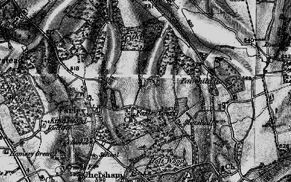 Old map of Farleigh in 1895