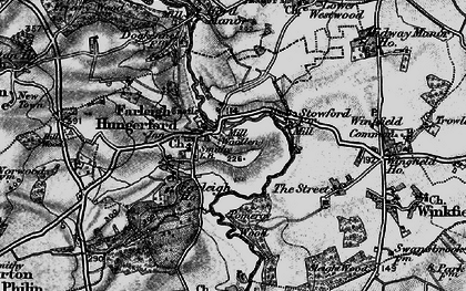 Old map of Farleigh Hungerford in 1898