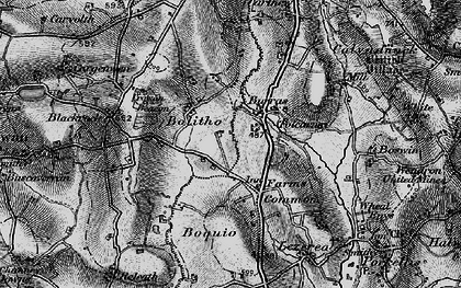 Old map of Farms Common in 1896