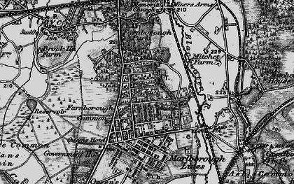 Old map of Farnborough in 1895