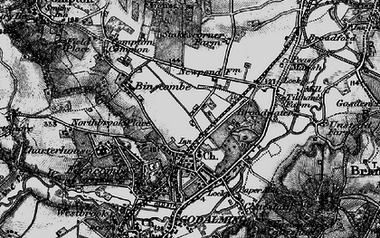 Old map of Farncombe in 1896