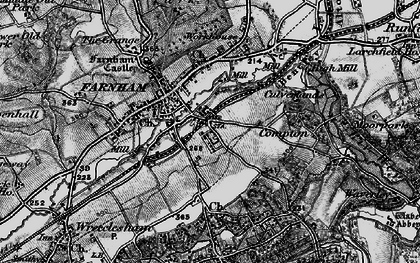 Old map of Farnham in 1895