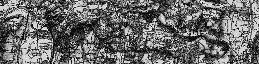 Old map of Farnham Common in 1896