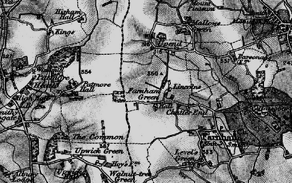 Old map of Lincolns in 1896