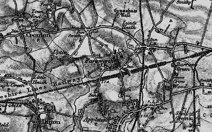 Old map of Farnworth in 1896